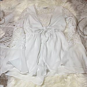 White fashion nova romper!